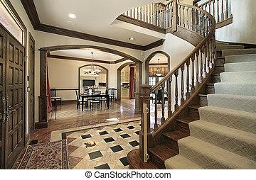 門廳, 設計, 地板