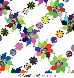 Abstract simple colorful floral background, vector image for design