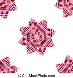 Abstract simple floral seamless pattern in pink colors and...