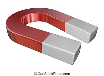 Red Metal Magnet Science Attraction - Red metal magnet for...