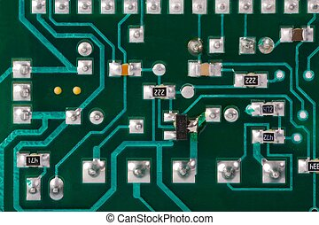 Electronic Circuit Board - Circuit board with electronic...