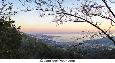 coastline in Lerici - detail of coastline in lerici a...