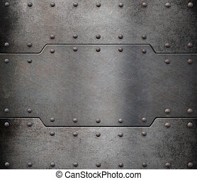 metal armour - rusty metal armour plate background