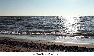 Sun in the ocean