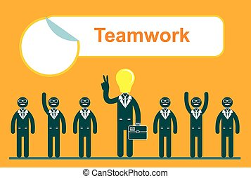 Team work in business