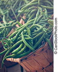 Green Beans - Green beans peppers at the local farmers...