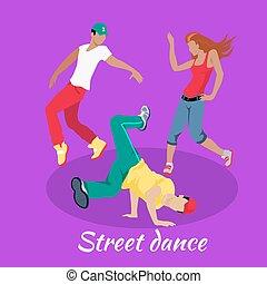 Street Dance Concept Flat Design