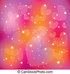 Abstract st valentine colorful hearts stars light background