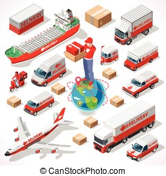 Delivery 05 Infographic Isometric - Worldwide Express...
