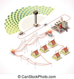 Energy 18 Infographic Isometric - Concentrating Solar Power...