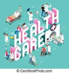 Healthcare Concept Isometric - Clinical Trials and...