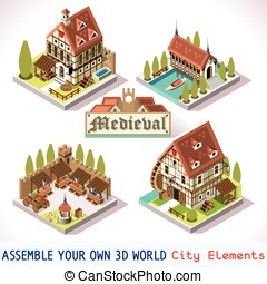 Medieval Tiles Isometric - Medieval Tiles for Online...