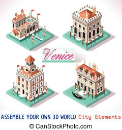 Venice 02 Tiles Isometric - Venice Palace Tiles for Online...