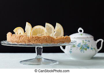Cake Stand With Lemons Tart - Cake stand with lemons tart...