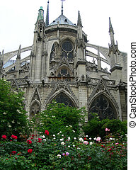 Notre Dame Cathedral - Architectural details of the Notre...