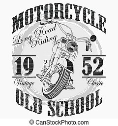 Biker fashion Typography, Motorcycle sport emblem, classic...
