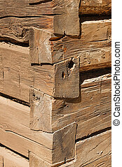 Log Cabin Corner Detail - detail of the corner of a log...