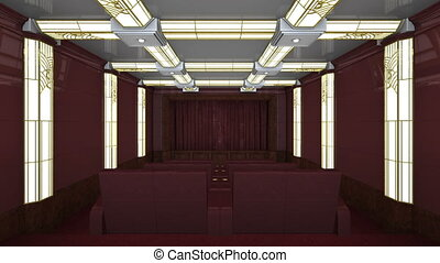 Theater room - 3D illustration of the theater room