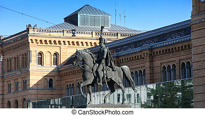 Statue Of Ernest Augustus I in Hannover, Germany - Statue Of...