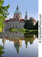 New Town Hall building (Rathaus) in Hannover Germany