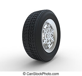 Snowflake Winter Tyre - Set of winter tires with the rim of...