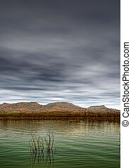 Storm Approaching Roosevelt Lake Arizona - Roosevelt Lake...