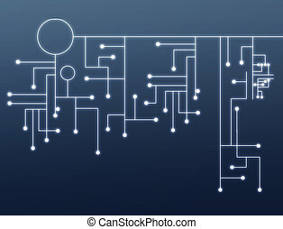 Simple tech background - Abstract background of a blue...