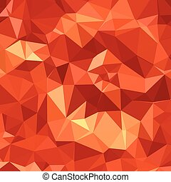 Atomic Tangerine Orange Abstract Low Polygon Background -...