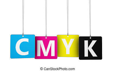 Cmyk Digital Offset Printing Concept - Cmyk digital offset...