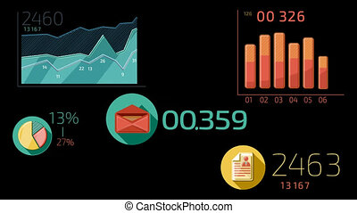 Business Infographics Color Element - - %u0421olor elements...