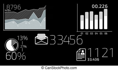 Business Infographics White Element - - White elements with...