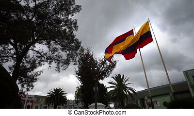Flag of Loja Province and Ecuador - The flag of the province...