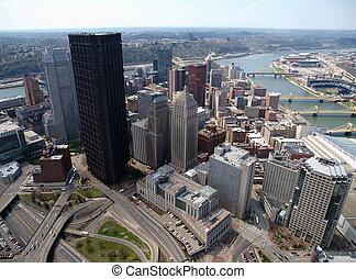 Downtown Pittsburgh Aerial