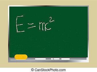 Blackboard - Editable vector background - School textured...