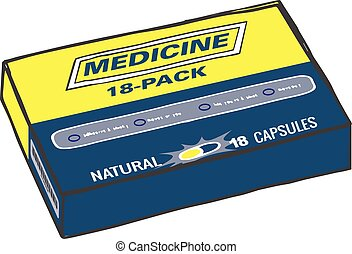 Pain Medication Box Pills
