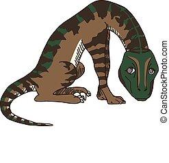 Velociraptor or Raptor Dinosaur - Cute Baby Velociraptor or...