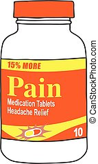 Pain Medication Bottle for the Sick