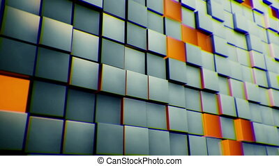 Cubes wall background - yellow and grey transform Cubes wall...
