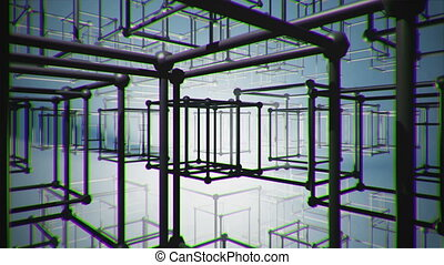 Cubes - illusion abstract construction animation blueprint,...