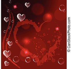 Valentine Hearts Greetings Card