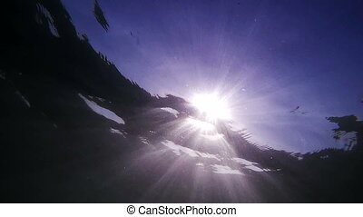 Sun from water - bright Sun from clear, blue, affectionate...