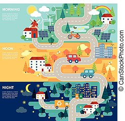 lovely city road map
