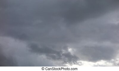 sky with dark rainy clouds