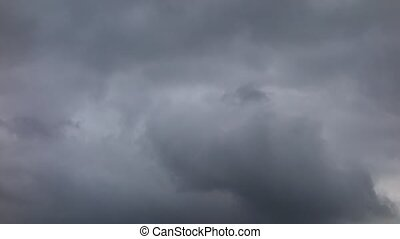 sky with dark rainy clouds.