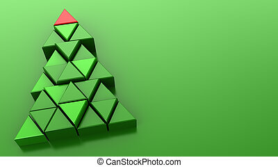 xmas background - 3d illustration of green background with...