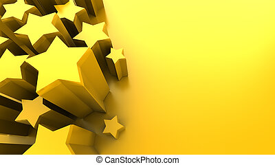 stars background - abstract 3d illustration of yellow...