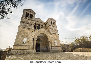 Christian church on Mount Tabor - Christian church on...