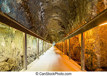 Ancient tunnel of Megiddo, Israel - Ancient tunnel of...