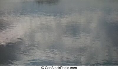 water background and reflected clouds