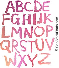 Handwritten alphabet.  - Handwritten alphabet Colorful.